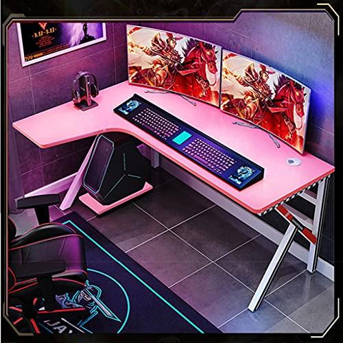 SHENXINCI Escritorio Ergonómico L Escritorio de La Computadora Gaming Mesa, para PC Estación de Trabajo de Estudio,Escritorio Resistente Al Agua y Fácil de Limpiar,Variedad de Opciones