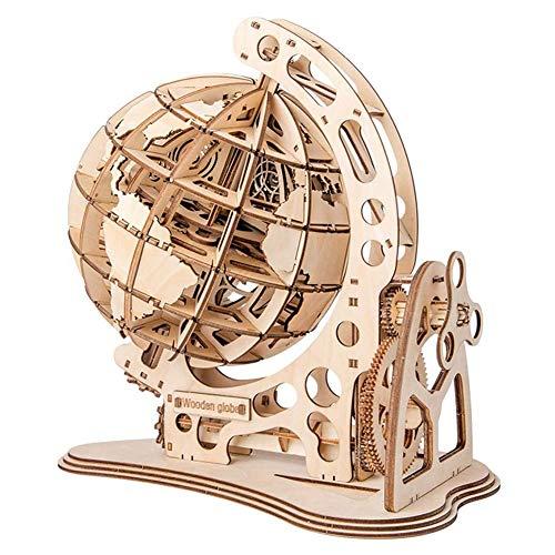 3D houten puzzel Houten Mechanische Transmissie puzzel speelgoed Houten roterende wereldbol Creatief Educatief Speelgoed geassembleerd speelgoed puzzel Geschikt voor kinderen vanaf 6 jaar