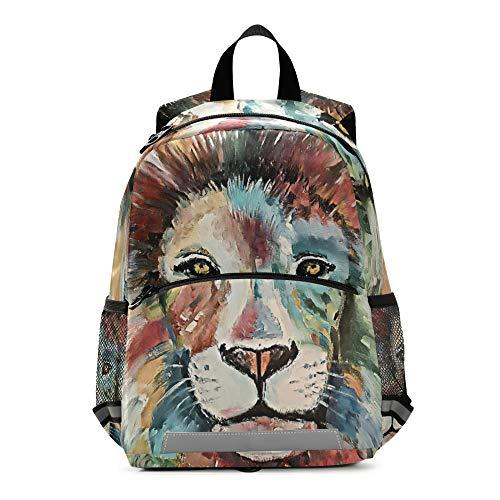 RELEESSS - Mochila infantil con correa para el pecho, mochila escolar preescolar, para niños y niñas