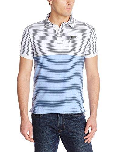 U.S. Polo Assn. Men's Slim Fit Jersey Pocket Polo Shirt, White, Large