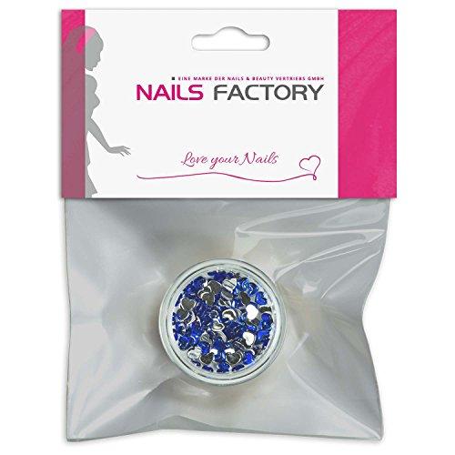 Strass coeur Blue de pierres de strass avec décoration en cristal Rhinestones Nail Art