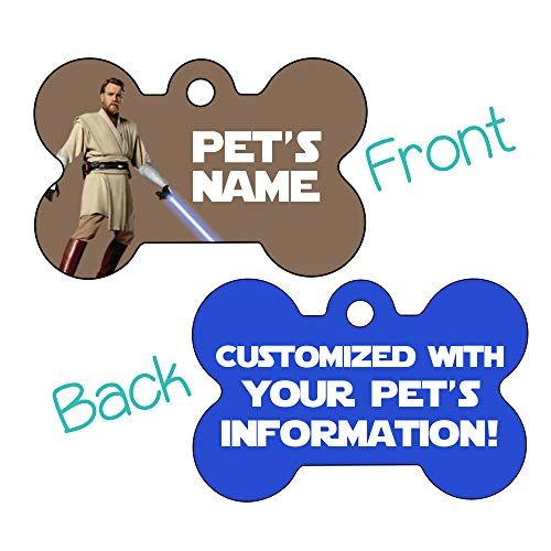 OBI-Wan Kenobi 2-Sided Pet Id Dog Tag Personalized for Your Pet