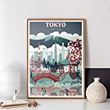 TELEGLO (No Frame) 50 * 70cm Tokio Japan Wandkunst Sakura