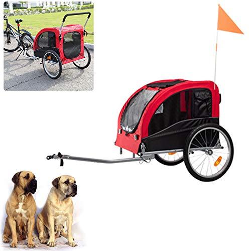 Remolque para Mascotas, Remolque Multifuncional para Salidas De Perros Y Gatos Remolque para Mascotas Plegable De Gran Tamaño Adecuado para Mascotas