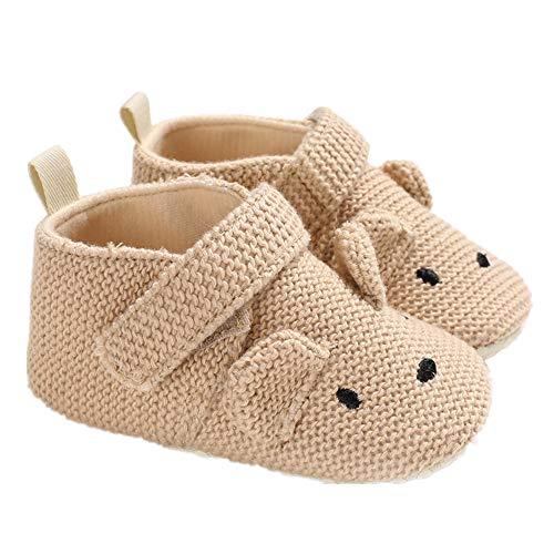 Morbuy Baby Baumwolltuch Schuhe Frühling Klettverschluss Babyschuhe Neugeborene Kleinkind Weiche Alleinige Anti-Rutsch Krabbelschuhe Wanderer Schuhe (11cm / 0-6 Monate, Aprikose)