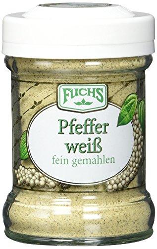 Fuchs Pfeffer weiß gemahlen, 2er Pack (2 x 50 g)