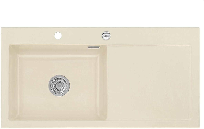 Systemceram Mera 100 SL Noblesse Keramik-Spüle Excenterbettigung Beige matt