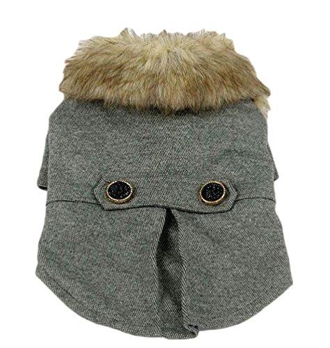YiJee Cappotto Caldo Imbottito Dog Coat Abbigliamento Pets Cane Vestiti Invernale Costume Grigio XL