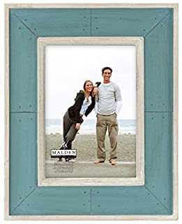 Malden International Designs Sun Washed Woods Turquoise Distressed With Inner Frame Border Picture Frame, 5x7, Turquoise (B00HR10LQS) | Amazon price tracker / tracking, Amazon price history charts, Amazon price watches, Amazon price drop alerts