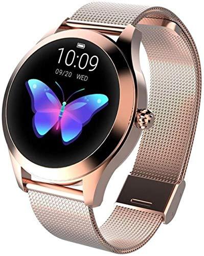 TYUI IP68 Impermeable Reloj Inteligente Pulsera Monitor de Ritmo Cardíaco Podómetro Cardio para Mujeres y Hombres para IOS Android-A