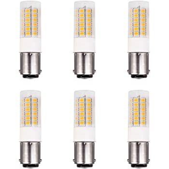 DengTA 1004 1142 1076 BA15D LED Replacement Bulbs for RV Camper Trailer Motorhome 5th Wheel Lights Marine Boat Navigation Anchor Stern Lights 2 Bottom Contacts Bayonet Base 5 Pack, Cool White