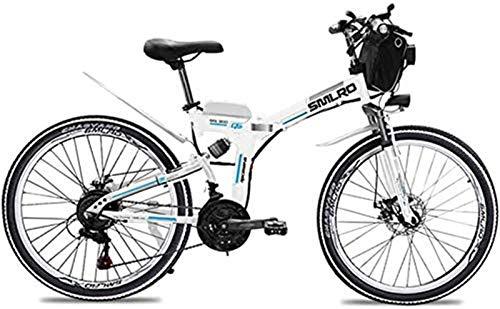 Bicicletta Elettrica, 26 Inch Electric Mountain bike, pieghevole e mobile 48V 500W 13Ah agli ioni di...