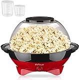 MVPower Popcornmaschine, 800W Popcorn Maker, Abnehmbares Heizfläche Antihaftbeschichtung und große...