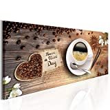 decomonkey Bilder Kaffee Küche 120x40 cm XXL 1 Teilig