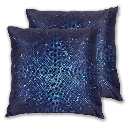 Pillows for Sleeping Blue Home Sofa Decorative Pixel Mosaic Depth Art W17 xL17