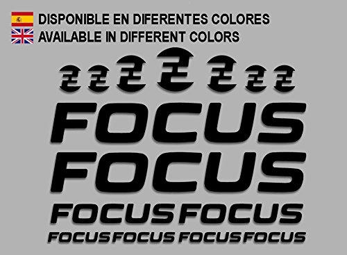 Ecoshirt 3G-JIGW-L1RM Pegatinas Focus F192 Stickers Aufkleber Decals Adesivi MTB Cicle Bike, Negro
