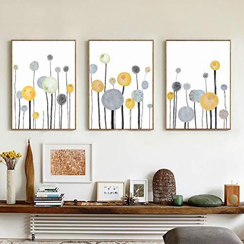 bdrsjdsb Moderne Abstrakte Baum Gedruckt Poster Home Cafe Wohnzimmer Ungerahmt Leinwand Malerei Dekor 1# 50 cm x 70 cm