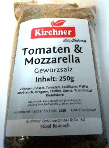 1a Kirchner Gewürze 49676 TOMATEN - MOZZARELLA Gewürzsalz ohne Glutamat --- Klarsichtbeutel 250g