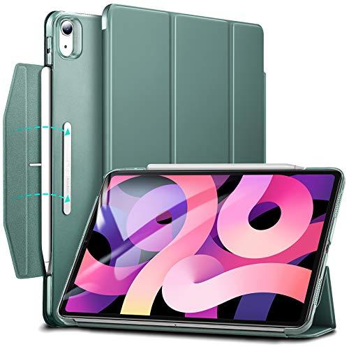 ESR Trifold Hülle kompatibel mit iPad Air 10.9 2020(4.Generation) [Trifold Smart Case] [Standhülle mit Schließe], Grün.