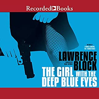 The Girl with the Deep Blue Eyes audiobook cover art