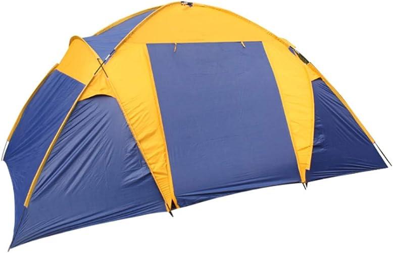 Limeinimukete Tente d'extérieur pour Camping Sauvage 5 Personnes Deux Chambres et Un Salon (Couleur   Bleu)