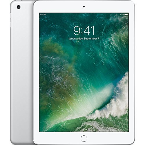 Apple iPad (5th Generation) WiFi , 128GB, Silver (2017 Model) (Renewed)