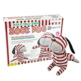 SadoCrafts Sew Your Own Educational Stuffed Animal Toy - DIY Dog Sock Doll Sewing Kit Arts and Craft Kit for Kids
