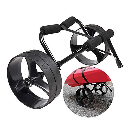 Wgwioo Carrello Pieghevole Per Kayak, Seduta In Alluminio Resistente Sul Carrello Porta Canoa Superiore, Carrello Per Trasporto Barche