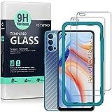 Ibywind Cristal Templado para Oppo Reno 4 5G [2 Piezas],con Atrás Pegatina Protectora Fibra de Carbono,Incluyendo Kit de instalación fácil