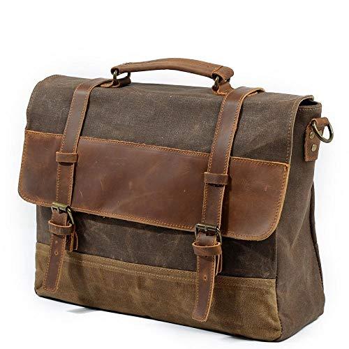Rucksack Herren Messenger Bag wasserdichte Leinwand Leder Herren Vintage Handtaschen Große Tasche Umhängetaschen 14
