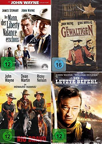 John Wayne Western Collection | Die Gewaltigen + Rio Bravo + Der Mann, der Liberty Valance erschoss + Der letzte Befehl (4-DVD)