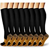 Copper Medical Compression Socks Circulation Men & Women 15-20 mmHg - Best for Running, Hiking, Athletic, Pregnancy,Travel
