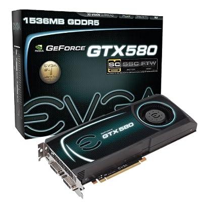EVGA GeForce GTX 580 1536 MB GDDR5 PCI Express 2.0 2DVI/Mini-HDMI SLI Ready Limited Graphics Card