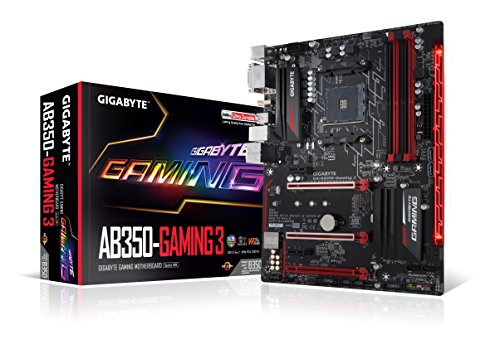 GIGABYTE GA-AB350-Gaming 3 (AMD RYZEN AM4/ B350/ RGB Fusion/ Smart Fan 5/ HDMI1.4/ M.2/ SATA 6Gbps/ USB 3.1 Type-A/ ATX/ DDR4/ Motherboard)