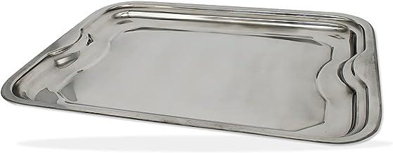 BANDEJA RETANGULAR INOX 42 CM LINHA CLASSIC