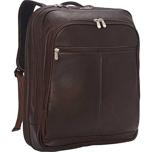 Piel Leather XL Laptop Travel Backpack, Chocolate, One Size