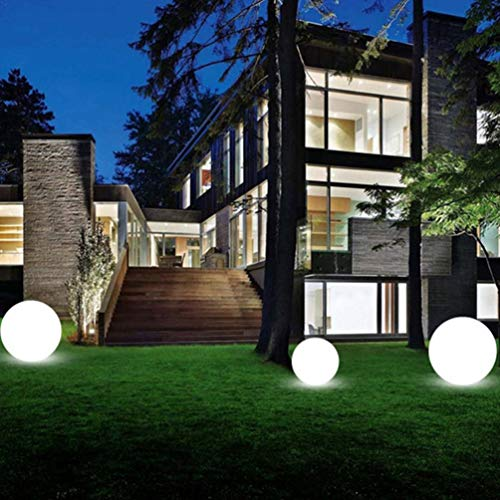 Uonlytech luz de bola led lámpara de césped led impermeable con control remoto luz de piscina led para fiesta en el jardín (1 piezas 12 cm)