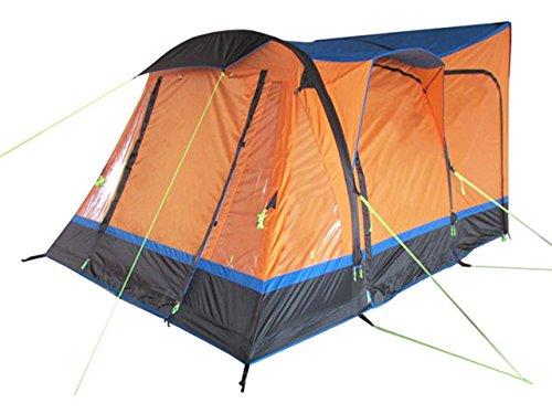 OLPRO Outdoor Freizeit-Produkte Loopo Breeze 3,9 m x 3,1 m aufblasbares Wohnmobil-Vorzelt Orange & Schwarz