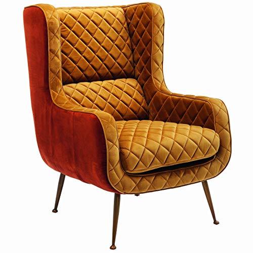Kare Design Sessel Nonna, rostfarbener Sessel, Retro Sessel, Relax Sessel, Curry Sessel, Retro Ohrensessel, (H/B/T) 103x73x85cm