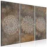 decomonkey Bilder Mandala 90x60 cm 3 Teilig Leinwandbilder