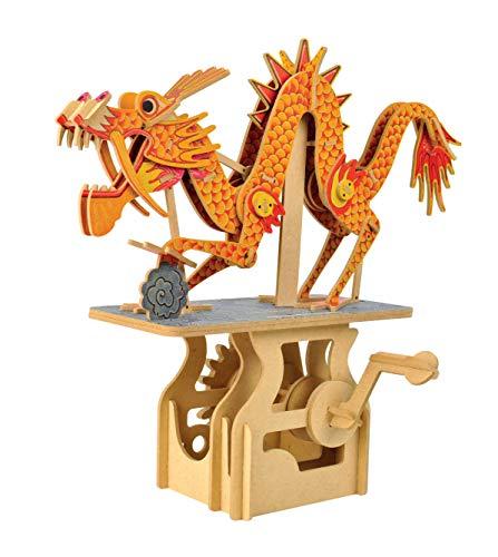 Clockwork Dreams Automata Kit - Storybook Series - Mini Machine Wood Kit (The Dragon on The Cloud)
