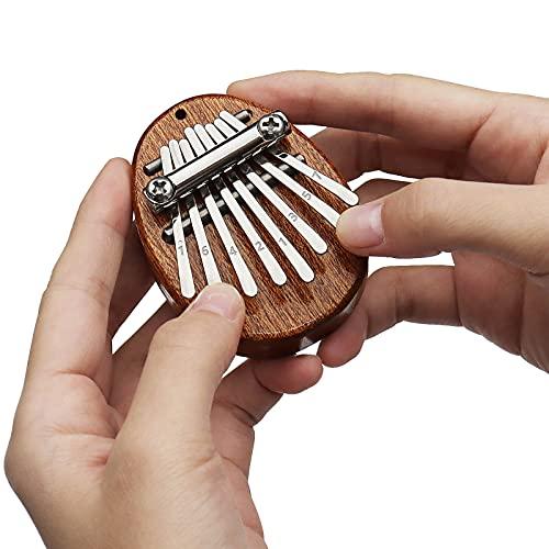 REGIS Kalimba 8 Key exquisite Finger Thumb Piano Marimba Musical good accessory Pendant Gif (Bronze)