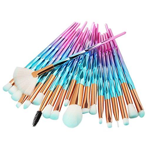Lidahaotin 20pcs/Set Fibre Fard Pinceau de Maquillage Fondation Fard à Paupières Poudre Brosses cosmétiques Contour Blending Kit 6#