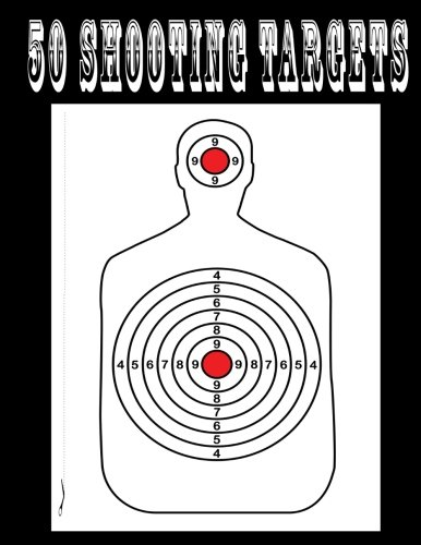 50 Shooting Targets 8.5' x 11' - Silhouette, Target or...