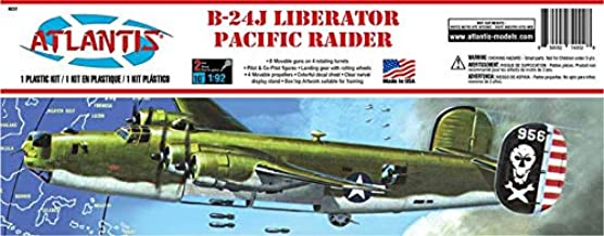 Atlantis Models B-24J Liberator Giant Bomber Pacific Raider Plastic Model kit 1/92 Atlantis