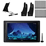 2020 HUION Kamvas Pro 24 Graphic Drawing Monitor 2.5K QHD Resolution with Screen Full Laminated Anti-Glare Glass Pen Display with 20 Express Keys Touch Bar, 23.8 inch