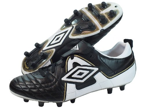 Umbro Speciali Pro Hard Ground Voetbalschoenen - Zwart/Wit/Goud - UK Size 10
