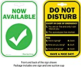 Do Not Disturb Sign / Now Available | Privacy Sign for Office Cubicle Desk, College Dorm Room, Bedroom Door Double Sided Sign That Lets Others Know Whether You're Available Or Not