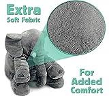 ECEJIX XXL Stuffed Elephant Plush Toy Grey 60cm Custom Designed (Large)