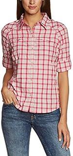 Columbia Sportswear Womens Silver Ridge Plaid Long Sleeve Shirt, Groovy Pink Small Plaid, X-Small